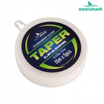 TAPER LEADER Шок-лидер EastShark 0,57 mm-0.26 mm 15m  (5 шт)