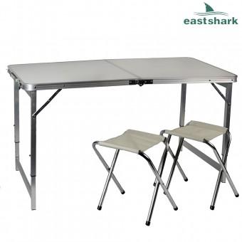 Набор алюминиевый стол + 2 стула 60*90 см