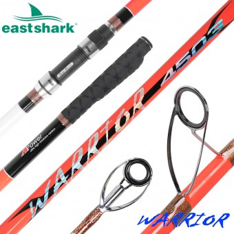 Морское удилище EastShark Warrior Surf 100/250gr 4.2m оранжевый