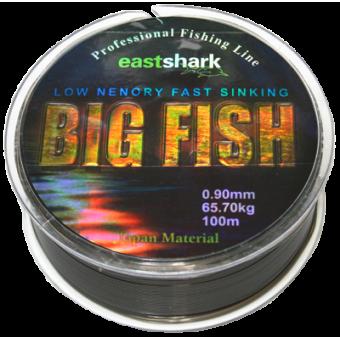 Леска BIG Fish 0.9 100м чёрная (65,7 кг)