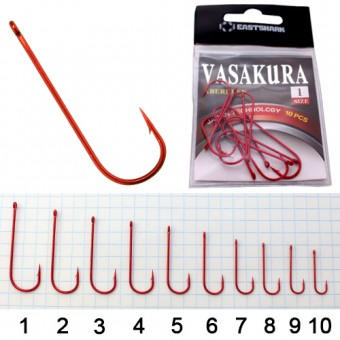 Крючки New Vasakura ABERDEEN красные № 1